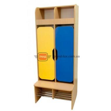 Шкаф детский 2-местный для раздевалки