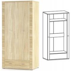 Шкаф 2Д1Ш Гресс (Мебель Сервис)