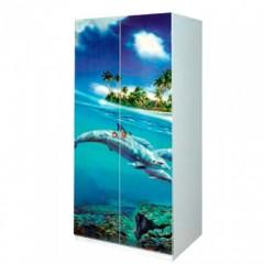 Шкаф 2д Мульти Дельфины (Світ Меблів)