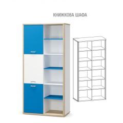 Книжный шкаф Лео (Мебель Сервис)