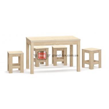 Наполеон (стол + табуретки) (Мебель Сервис)