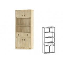 Книжный шкаф 4д+1ш Валенсия (Мебель Сервис)