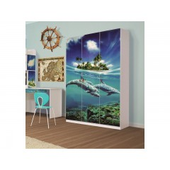 Шкаф 3Д Мульти Дельфины (Світ Меблів)