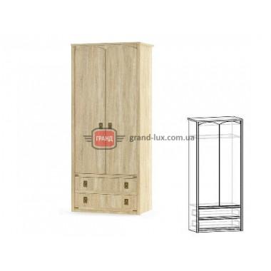 Шкаф 2Д 2Ш Валенсия (Мебель Сервис)