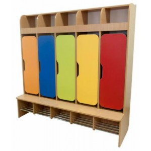 Шкаф детский 5-местный для раздевалки