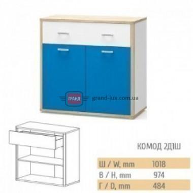 Комод Лео 2Д1Ш (Мебель Сервис)