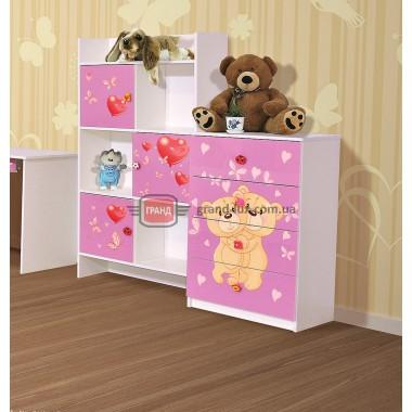 Шкаф книжный Мульти Мишки (Світ Меблів)